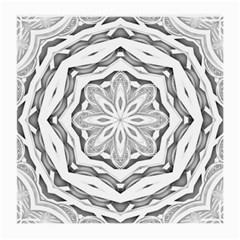 Mandala Pattern Floral Medium Glasses Cloth (2 Side) by Nexatart