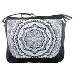 Mandala Pattern Floral Messenger Bags by Nexatart