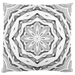 Mandala Pattern Floral Large Flano Cushion Case (two Sides) by Nexatart