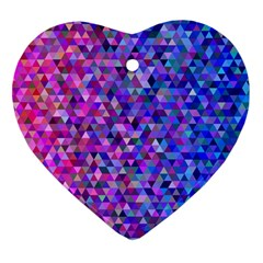 Triangle Tile Mosaic Pattern Ornament (heart) by Nexatart