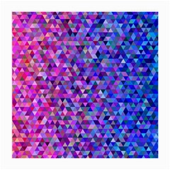 Triangle Tile Mosaic Pattern Medium Glasses Cloth (2 Side) by Nexatart