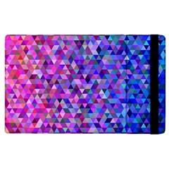 Triangle Tile Mosaic Pattern Apple Ipad 3/4 Flip Case by Nexatart