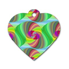 Seamless Pattern Twirl Spiral Dog Tag Heart (two Sides) by Nexatart