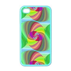 Seamless Pattern Twirl Spiral Apple Iphone 4 Case (color) by Nexatart