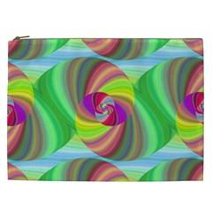 Seamless Pattern Twirl Spiral Cosmetic Bag (xxl)  by Nexatart
