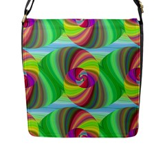 Seamless Pattern Twirl Spiral Flap Messenger Bag (l)  by Nexatart