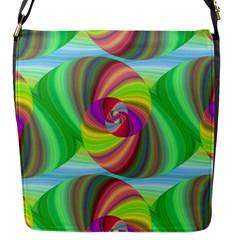 Seamless Pattern Twirl Spiral Flap Messenger Bag (s) by Nexatart