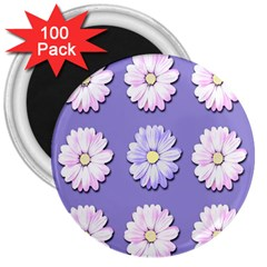 Daisy Flowers Wild Flowers Bloom 3  Magnets (100 Pack) by Nexatart