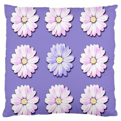 Daisy Flowers Wild Flowers Bloom Large Cushion Case (two Sides) by Nexatart