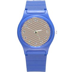Chevron Retro Pattern Vintage Round Plastic Sport Watch (s) by Nexatart