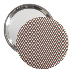 Chevron Retro Pattern Vintage 3  Handbag Mirrors by Nexatart