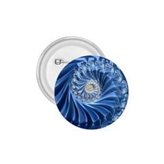 Blue Fractal Abstract Spiral 1 75  Buttons by Nexatart