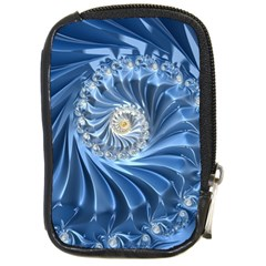 Blue Fractal Abstract Spiral Compact Camera Cases by Nexatart