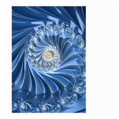Blue Fractal Abstract Spiral Small Garden Flag (two Sides) by Nexatart