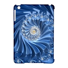 Blue Fractal Abstract Spiral Apple Ipad Mini Hardshell Case (compatible With Smart Cover) by Nexatart