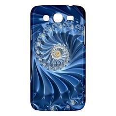 Blue Fractal Abstract Spiral Samsung Galaxy Mega 5 8 I9152 Hardshell Case  by Nexatart