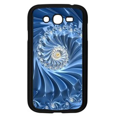 Blue Fractal Abstract Spiral Samsung Galaxy Grand Duos I9082 Case (black) by Nexatart