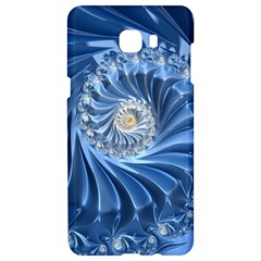 Blue Fractal Abstract Spiral Samsung C9 Pro Hardshell Case  by Nexatart