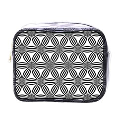 Seamless Pattern Repeat Line Mini Toiletries Bags by Nexatart