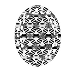 Seamless Pattern Repeat Line Oval Filigree Ornament (two Sides) by Nexatart