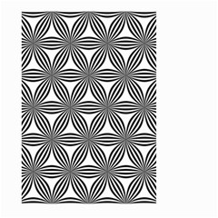 Seamless Pattern Repeat Line Large Garden Flag (two Sides) by Nexatart