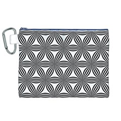 Seamless Pattern Repeat Line Canvas Cosmetic Bag (xl) by Nexatart