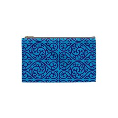 Monogram Blue Purple Background Cosmetic Bag (small)  by Nexatart