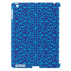 Monogram Blue Purple Background Apple Ipad 3/4 Hardshell Case (compatible With Smart Cover) by Nexatart