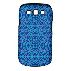 Monogram Blue Purple Background Samsung Galaxy S Iii Classic Hardshell Case (pc+silicone) by Nexatart