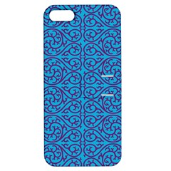 Monogram Blue Purple Background Apple Iphone 5 Hardshell Case With Stand by Nexatart