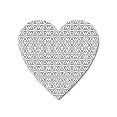 Seamless Pattern Monochrome Repeat Heart Magnet by Nexatart