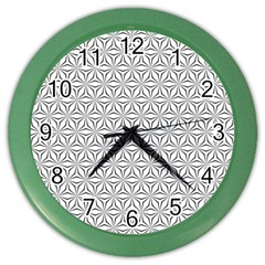 Seamless Pattern Monochrome Repeat Color Wall Clocks by Nexatart