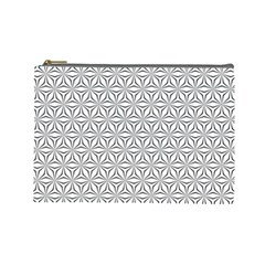 Seamless Pattern Monochrome Repeat Cosmetic Bag (large)  by Nexatart