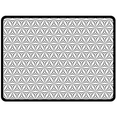 Seamless Pattern Monochrome Repeat Double Sided Fleece Blanket (large)  by Nexatart