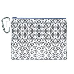 Seamless Pattern Monochrome Repeat Canvas Cosmetic Bag (xl) by Nexatart