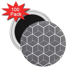 Cube Pattern Cube Seamless Repeat 2 25  Magnets (100 Pack)  by Nexatart