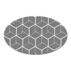 Cube Pattern Cube Seamless Repeat Oval Magnet by Nexatart