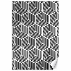 Cube Pattern Cube Seamless Repeat Canvas 20  X 30   by Nexatart