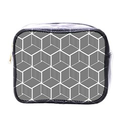 Cube Pattern Cube Seamless Repeat Mini Toiletries Bags by Nexatart