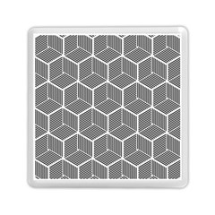 Cube Pattern Cube Seamless Repeat Memory Card Reader (square)  by Nexatart