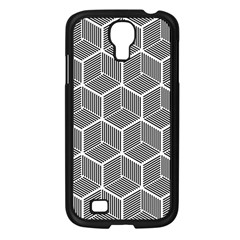 Cube Pattern Cube Seamless Repeat Samsung Galaxy S4 I9500/ I9505 Case (black) by Nexatart