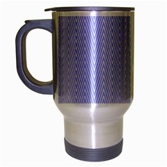 Zigzag Chevron Thin Pattern Travel Mug (silver Gray) by Nexatart