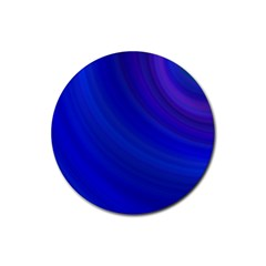 Blue Background Abstract Blue Rubber Coaster (round)  by Nexatart