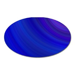Blue Background Abstract Blue Oval Magnet by Nexatart