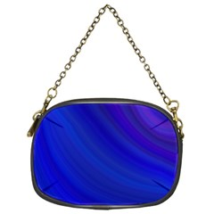 Blue Background Abstract Blue Chain Purses (one Side)  by Nexatart