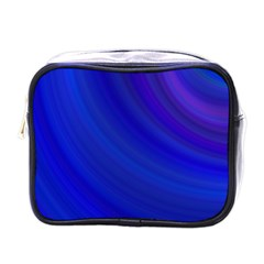 Blue Background Abstract Blue Mini Toiletries Bags by Nexatart
