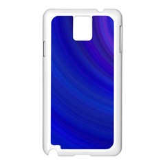 Blue Background Abstract Blue Samsung Galaxy Note 3 N9005 Case (white) by Nexatart