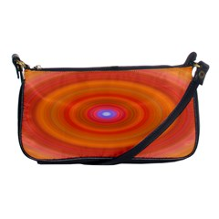 Ellipse Background Orange Oval Shoulder Clutch Bags by Nexatart