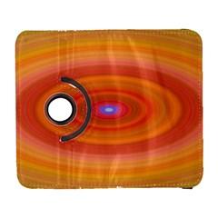 Ellipse Background Orange Oval Galaxy S3 (flip/folio) by Nexatart