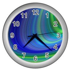 Space Design Abstract Sky Storm Wall Clocks (silver)  by Nexatart